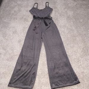 Velvet Wide-leg Jumpsuit